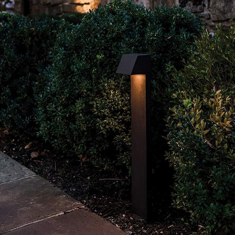 "WAC Quad 23"" High Bronze 3000K LED Landscape Path Light more views"