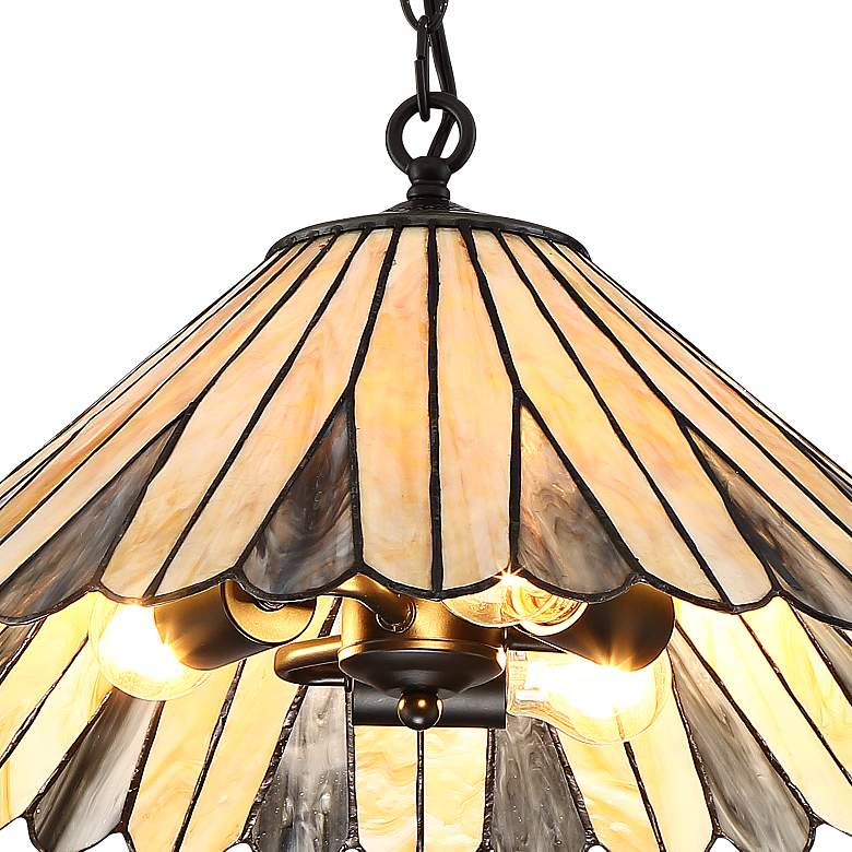 "Deppa 19 3/4"" Wide Tiffany Style Plug-In Swag Chandelier more views"