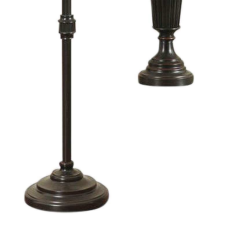 Bronze Wood 3-Piece Floor and Table Lamp Set more views