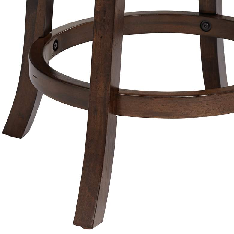 "Newton II 26"" Brown Faux Leather Swivel Counter Stool more views"