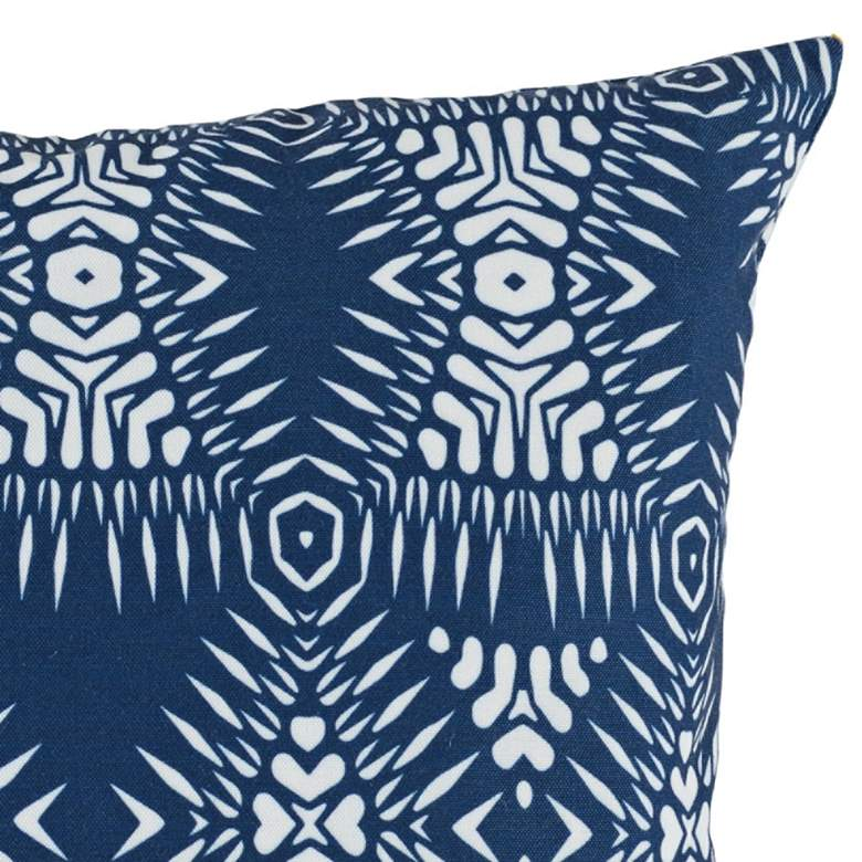 "Arroyo Pacific Blue 18"" Square Decorative Pillow more views"