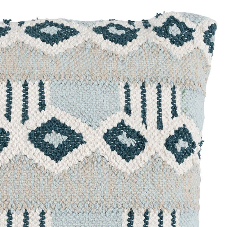 "Nazira Skyblue Multi-Color 22"" Square Decorative Pillow more views"