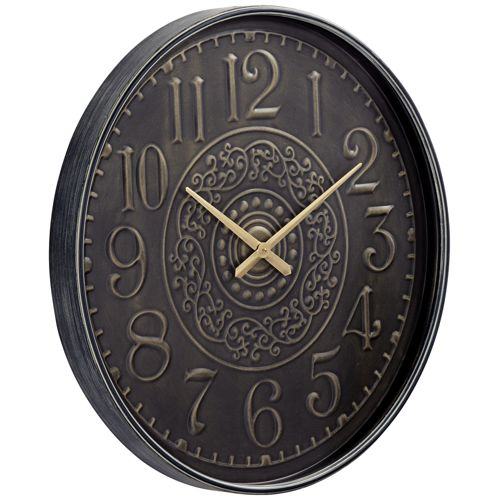 "Gold Scroll 31 1/2"" Round Hand-Made Wall Clock"