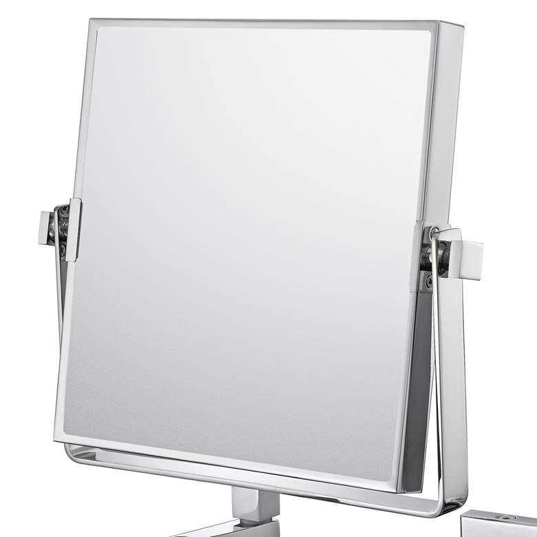 "Aptations Chrome 9 1/2"" x 11 3/4"" Vanity Wall Mirror more views"