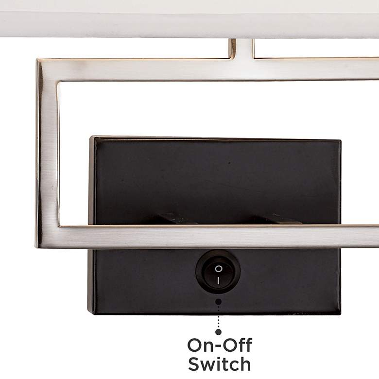 Trixie Brushed Nickel Rectangle Plug-In Wall Lamp more views