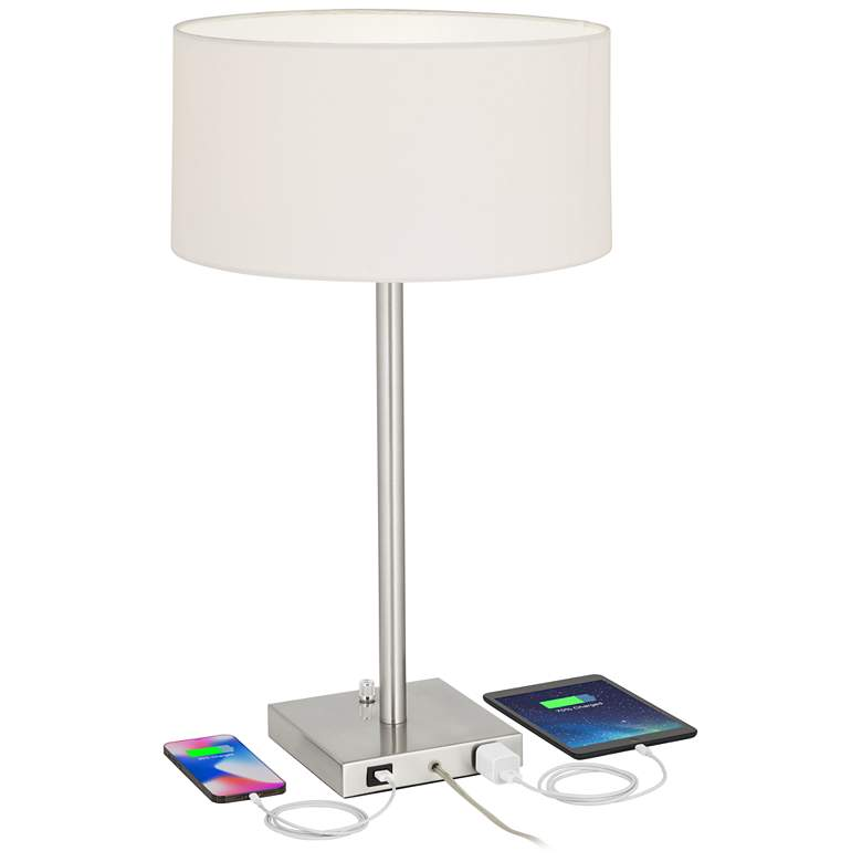 Andre Metal Table Lamps with USB Ports and Outlets Set of 2 more views