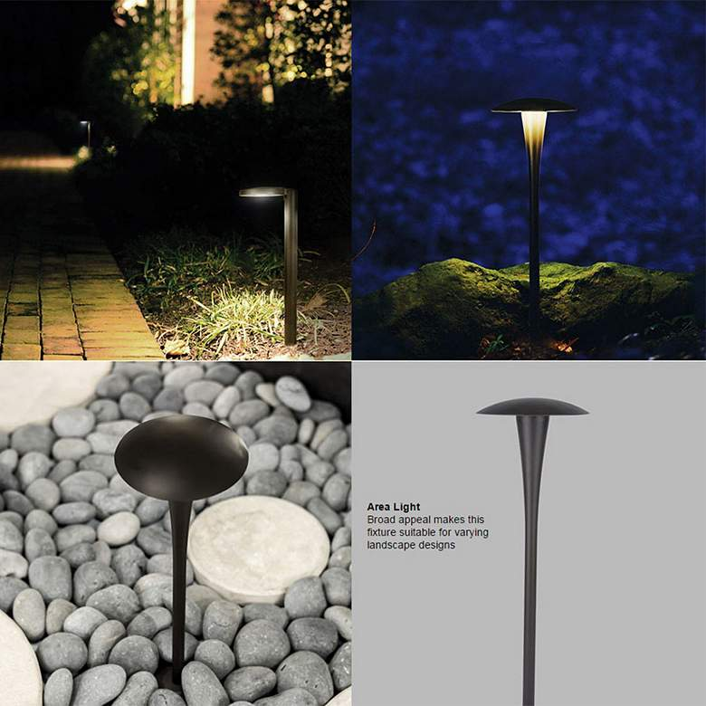 "WAC Landscape 22"" High Bronze 3000K LED Area Path Light more views"