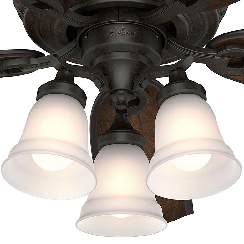 "54"" Hunter Promenade Brittany Bronze LED Ceiling Fan more views"