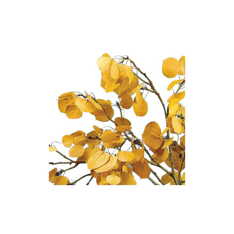 "Yellow Aspen Leaf Spray 29"" Wide Faux Branches in Vase more views"
