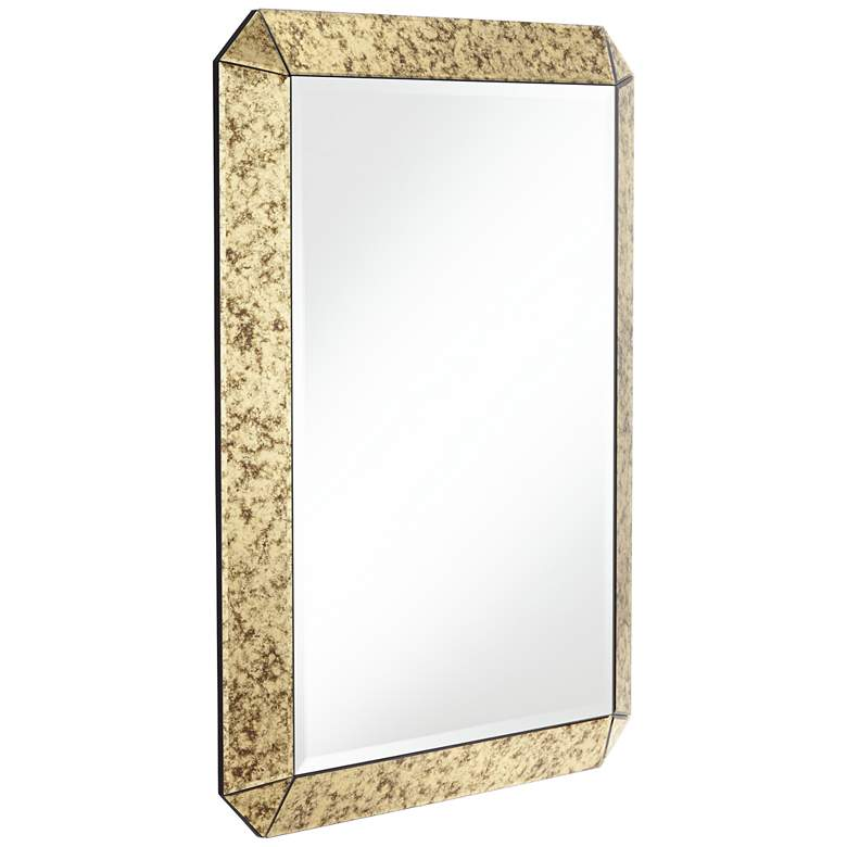 "Alena 28"" x 38""  Antique Gold Rectangular Wall Mirror more views"