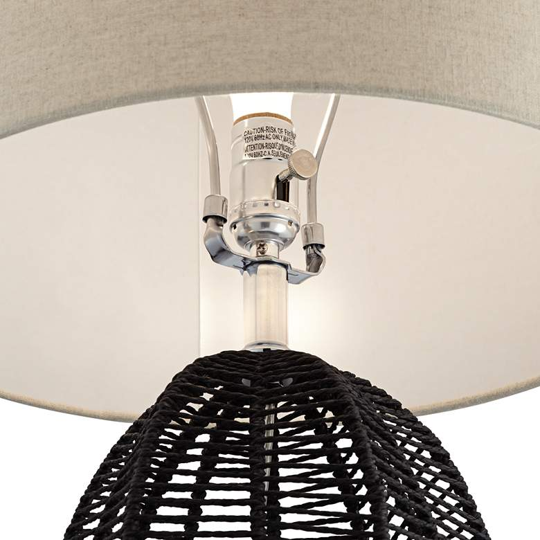Aria Black Rope Cage Table Lamp more views