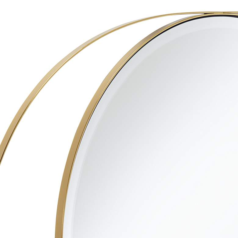 "Possini Euro Ciara 27 1/2"" x 39"" Gold Oval Wall Mirror more views"