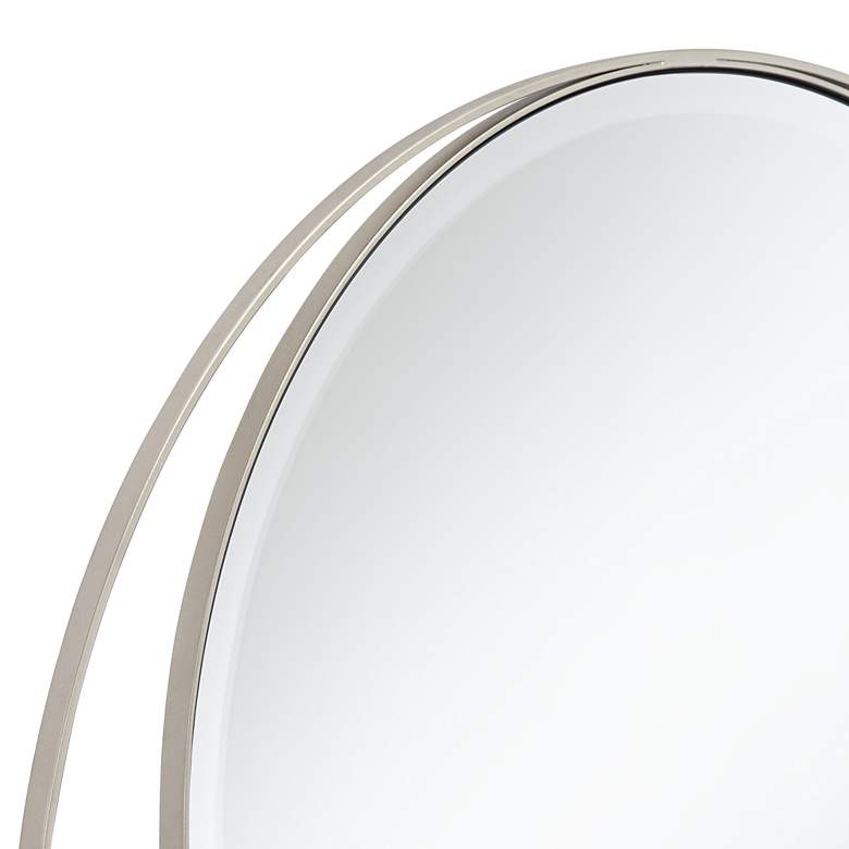 "Possini Euro Keri 31 1/2"" Silver Asymmetrical Wall Mirror more views"
