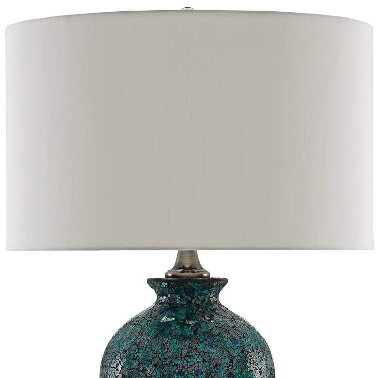 Pavao Peacock Green Mosaic Glass Ceramic Table Lamp more views