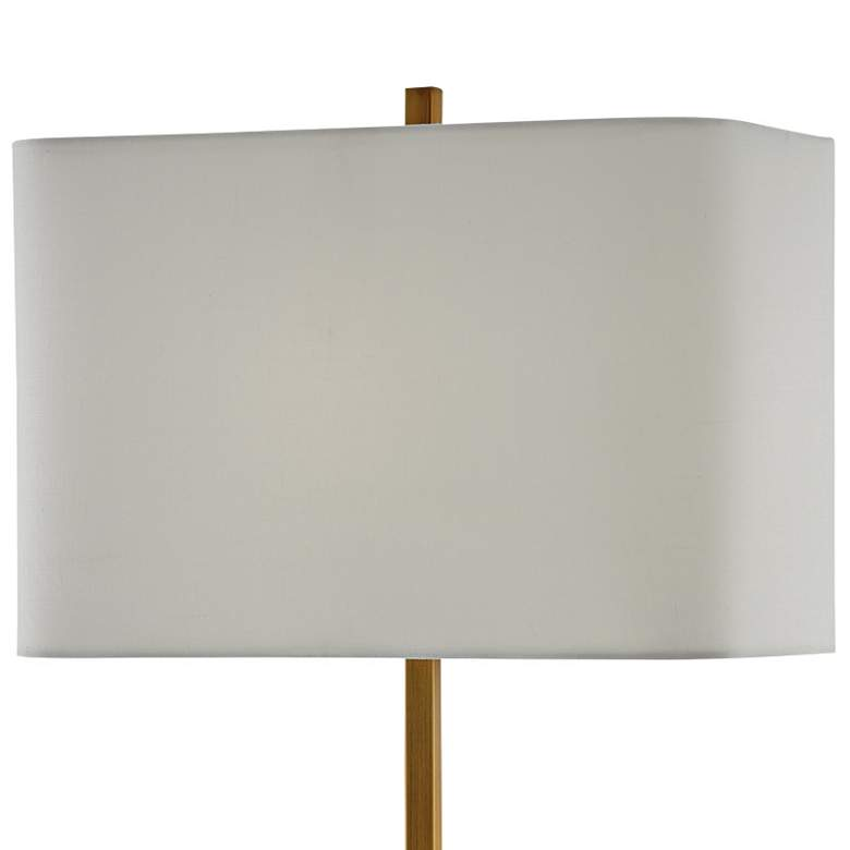Felix Antique Brass and Natural Alabaster Table Lamp more views