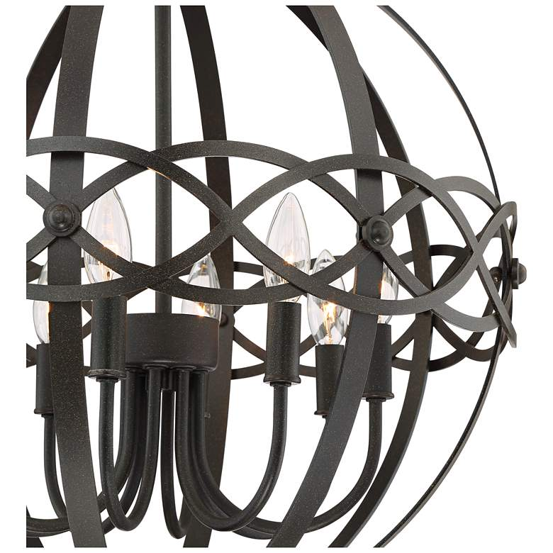 "Delana 20"" Wide Dark Brown 8-Light Orb Pendant more views"