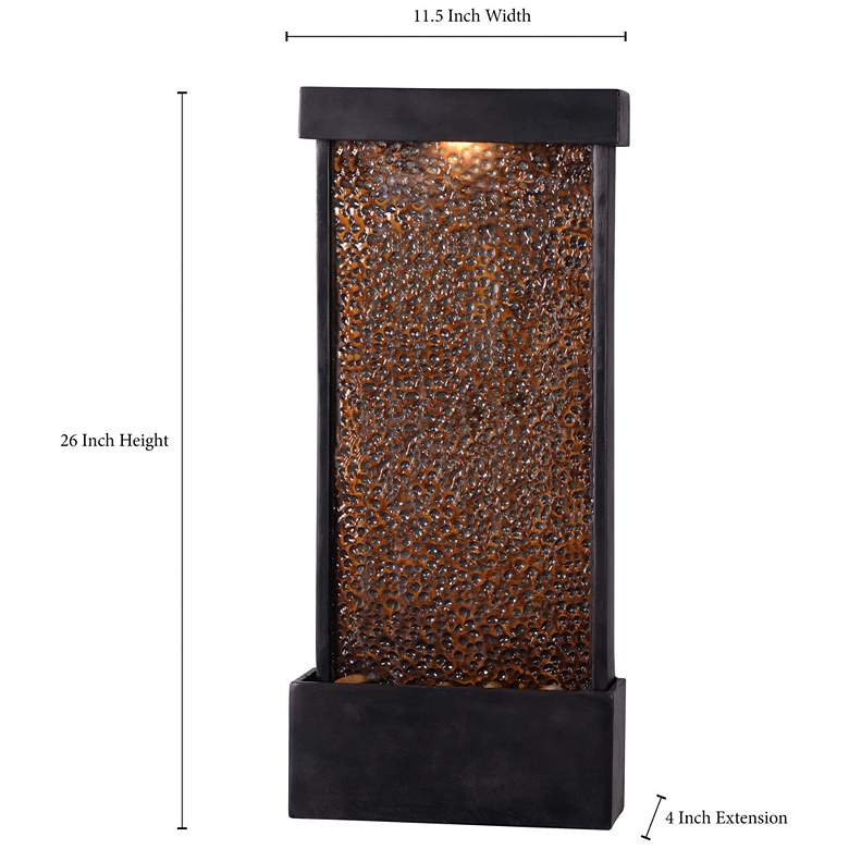 "Forged Water 26""H Hammered Copper Outdoor LED Wall Fountain more views"