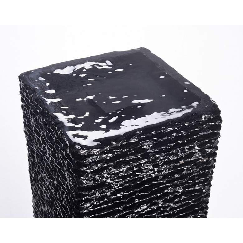 Ridgeland Black Slate Outdoor Fountain more views