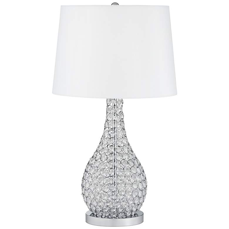 Kasey Beaded Gourd Table Lamp with USB Workstation Base more views