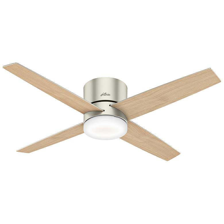 "54"" Hunter Advocate WiFi Matte Nickel LED Hugger Ceiling Fan more views"