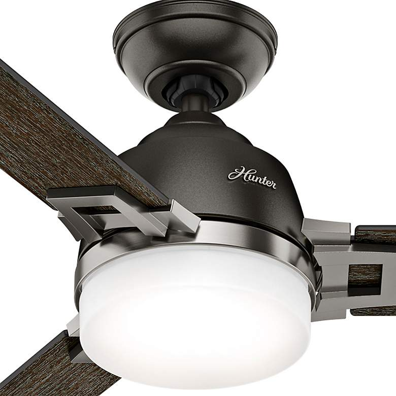 "48"" Hunter Leoni Brushed Nickel Noble Bronze LED Ceiling Fan more views"