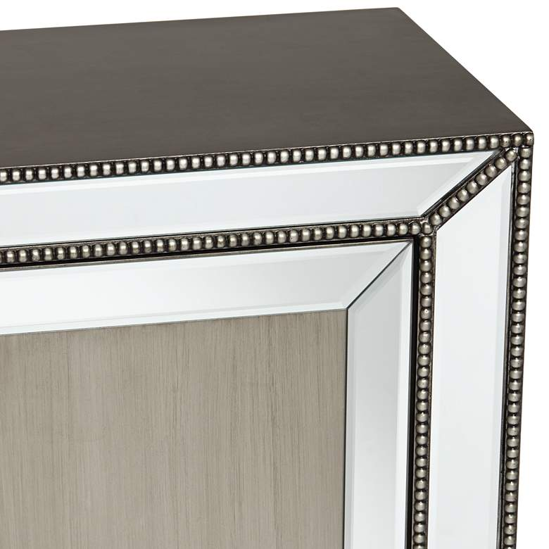 Galena 2-Door Mirrored Accent Cabinet more views