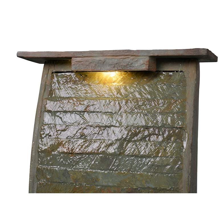 "Meander 48"" High Slate Indoor/Outdoor LED Floor Fountain more views"