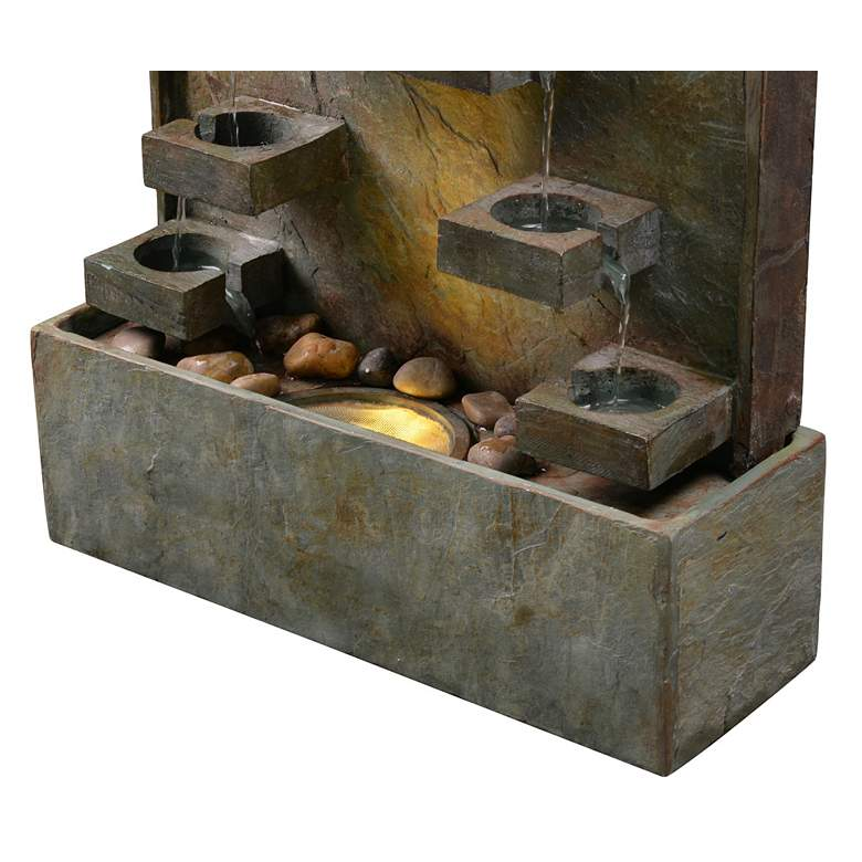 "Voyage 33"" High Natural Slate LED Outdoor Fountain more views"