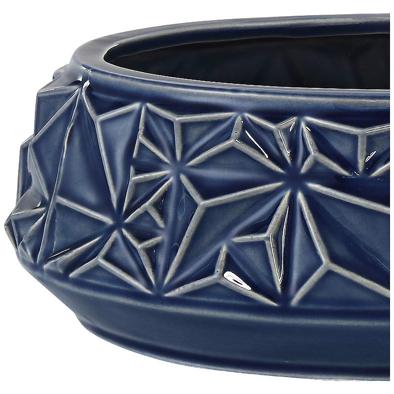 "Telus 9 1/4"" Wide Dark Blue Ceramic Bowl more views"