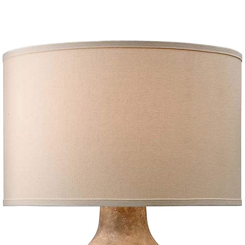 Zen Lava Ceramic Table Lamp with Off-White Shade more views