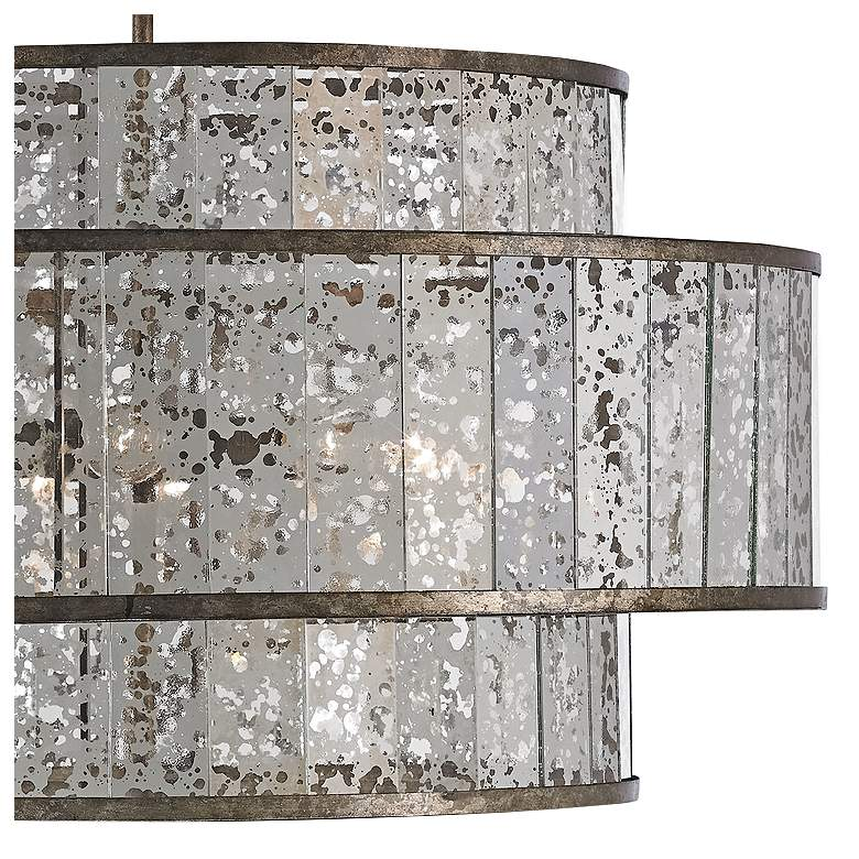 "Fantine 30"" Wide Pyrite Bronze and Raj Mirror Chandelier more views"