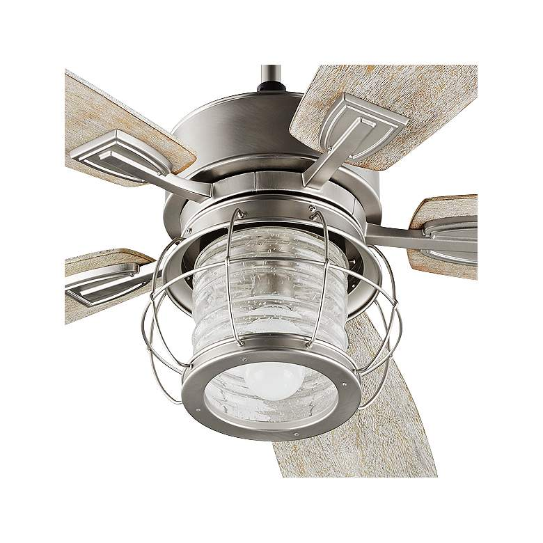 "52"" Quorum Galveston Satin Nickel Ceiling Fan more views"
