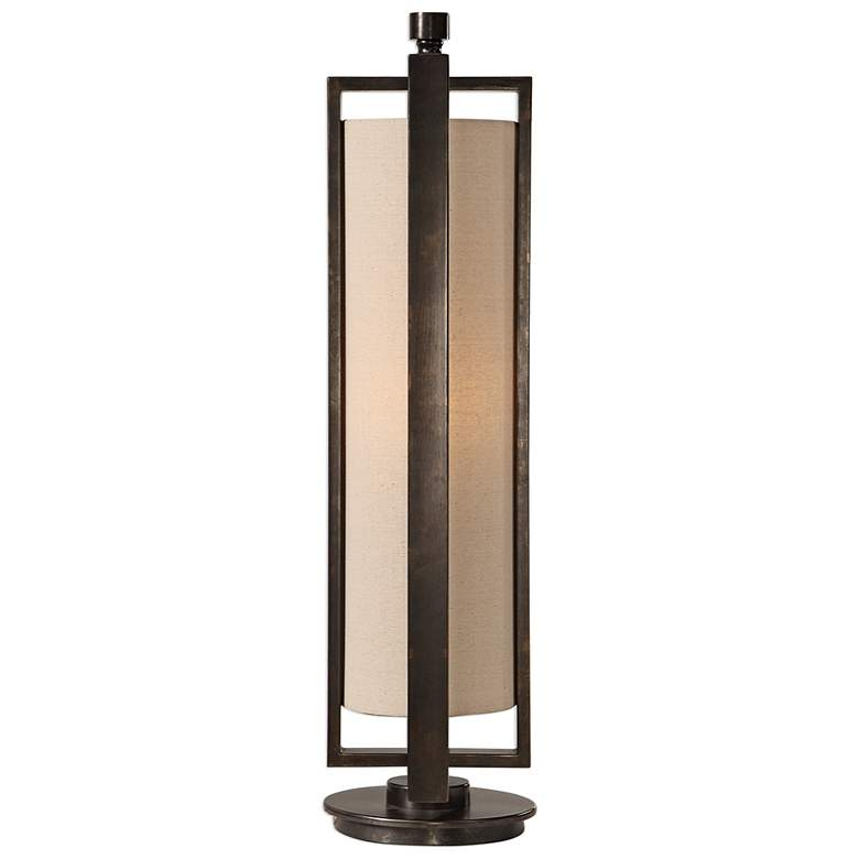 Uttermost Lanier Gun Metal Black Uplight Buffet Table Lamp more views