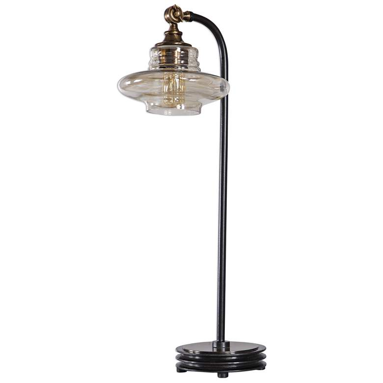 Uttermost Lyell Black Metal Arc Desk Lamp more views