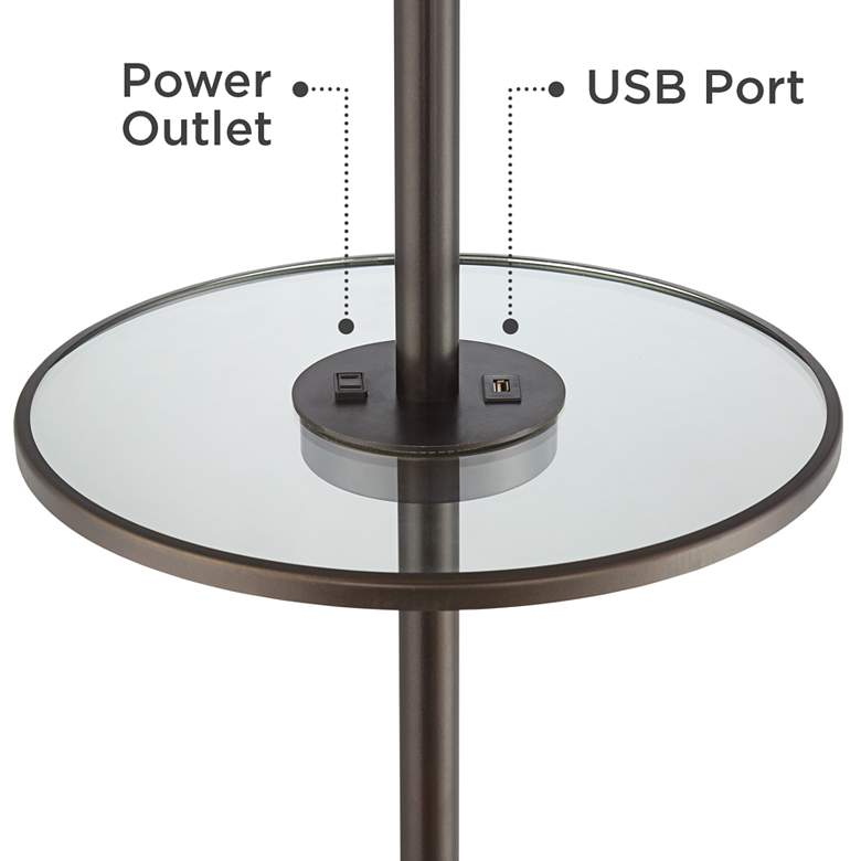Penfield Tray Table Floor Lamp with Outlet and USB Port more views