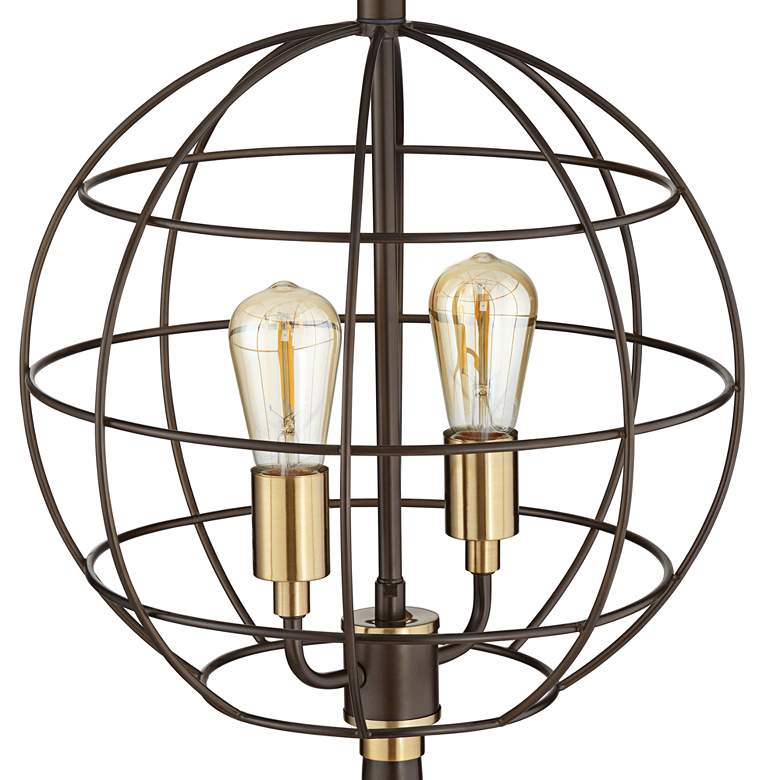 Memphis Oil-Rubbed Bronze Industrial Globe LED Table Lamp more views