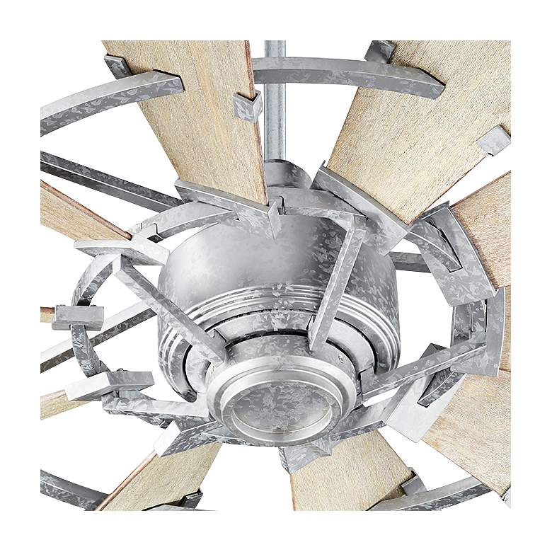"44"" Quorum Windmill Galvanized Ceiling Fan more views"