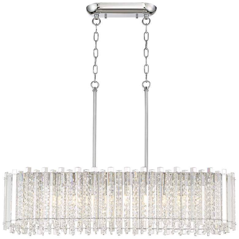 "Mirabell 34"" Wide Crystal LED Kitchen Island Light Pendant more views"
