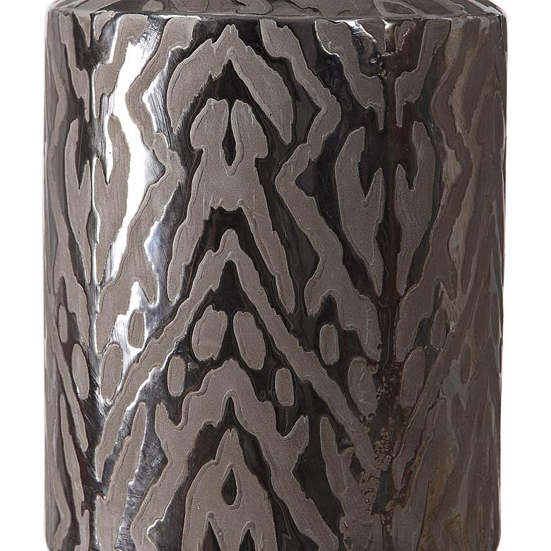 Uttermost Zelda Metallic Bronze Glaze Ceramic Table Lamp more views