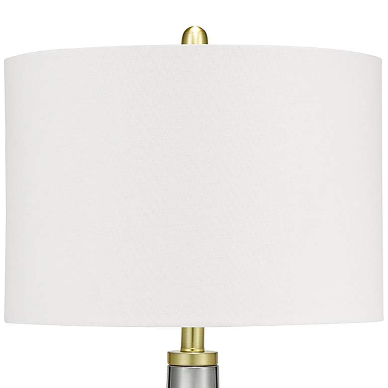 Bibi Brushed Nickel LED Table Lamp with Night Light more views