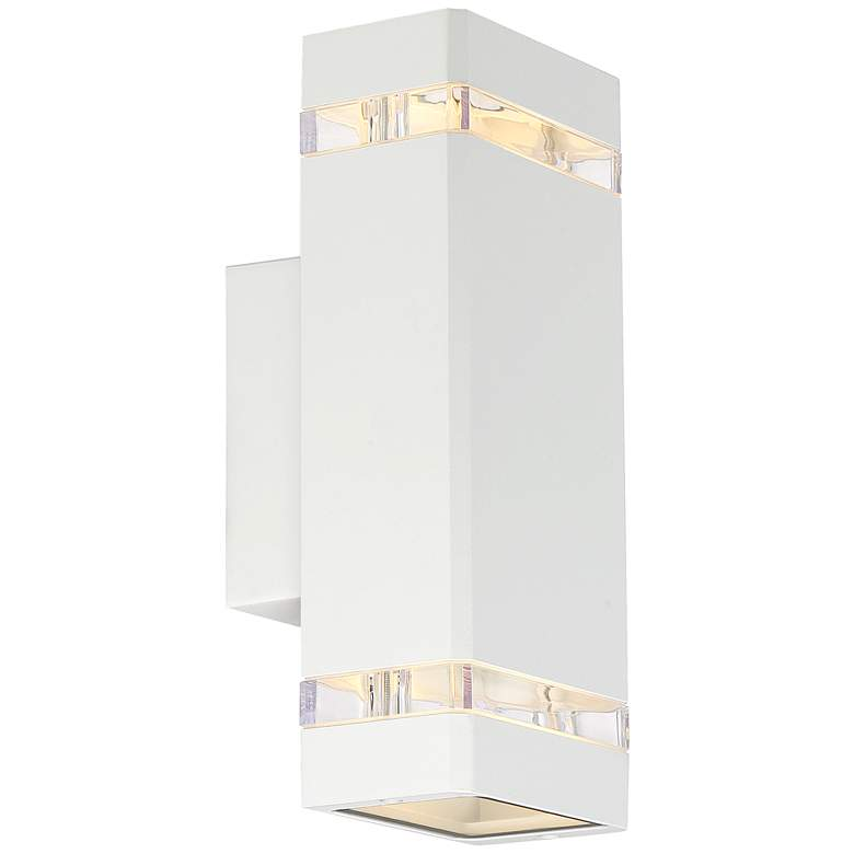 "Skyridge 10 1/2"" High White Up-Down Outdoor Wall Light more views"