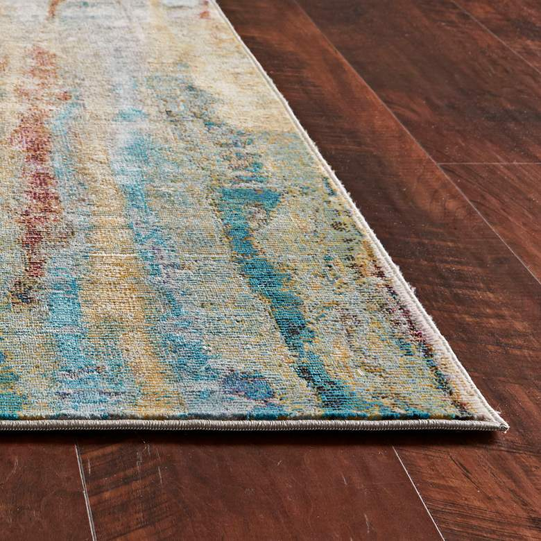Arte 6113 5'x7' Teal Lucia Area Rug more views