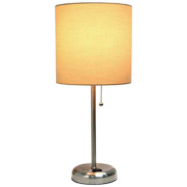 "LimeLights Stick Tan Shade 19 1/2"" High Accent Table Lamp more views"