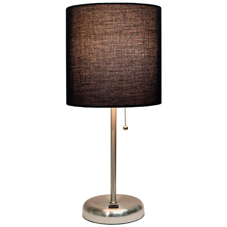 "LimeLights Stick Black Shade 19 1/2""H USB Accent Table Lamp more views"