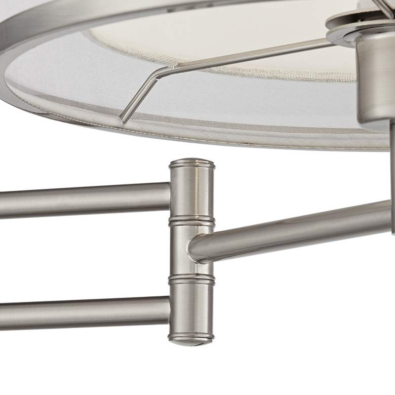 Possini Euro Lillie Brushed Nickel Swing Arm Wall Lamp more views