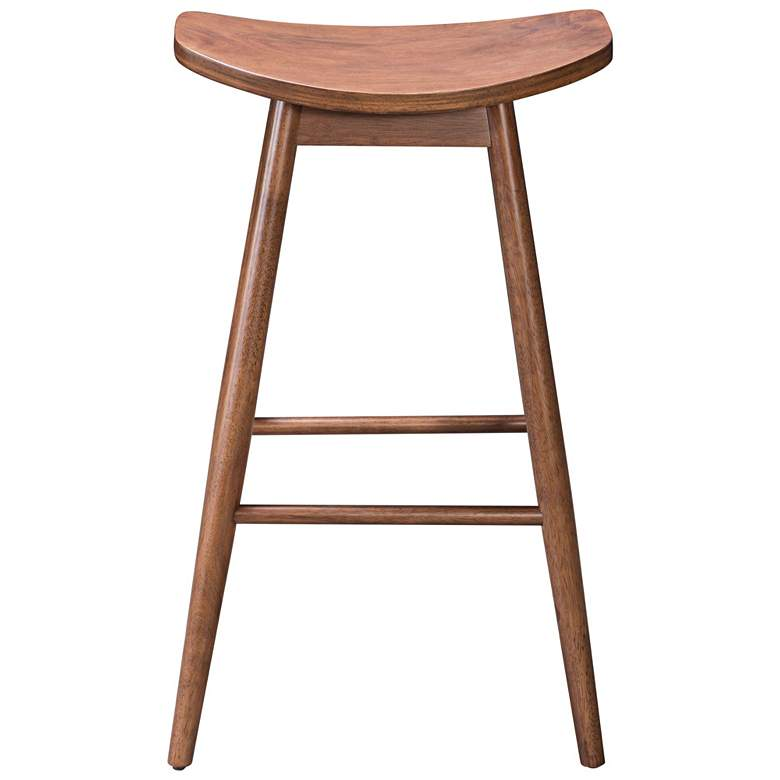 "Zuo Trinity 30"" Walnut Wood Bar Stool more views"
