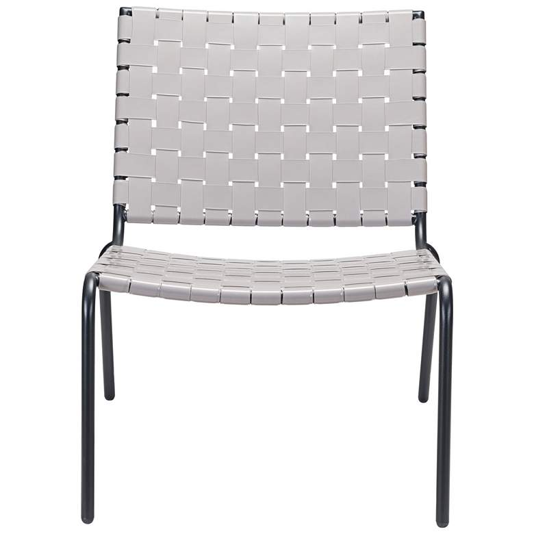 Zuo Beckett Light Gray Indoor-Outdoor Lounge Chair more views