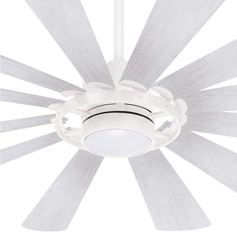 "65"" Minka Aire Windmolen Textured White LED Ceiling Fan more views"