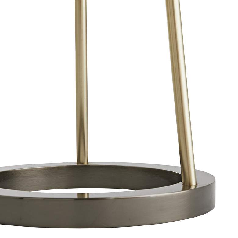 Hadley Pale Brass Tripod Metal Floor Lamp with Black Shade more views