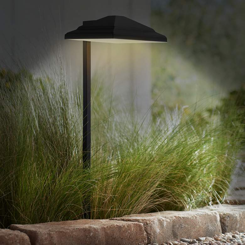 Basset Textured Black 6-Piece LED Landscape Path Light Set more views